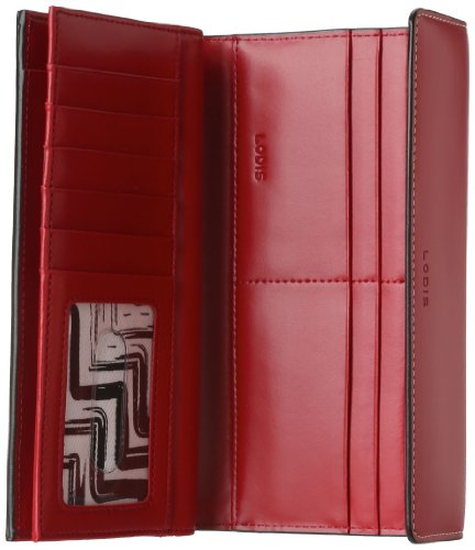 lodis audrey checkbook clutch red one size