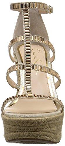 Jessica Simpson de la mujer adelinn Alpargata cuña sandalias Oro pálido