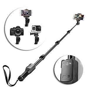 tnp professional selfie stick heavy duty sports handheld extendable self portrait. Black Bedroom Furniture Sets. Home Design Ideas
