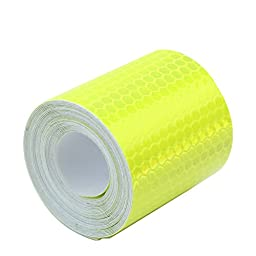 ReFaXi® 3m Fluorescence Yellow Night Reflective Safety Warning Conspicuity Tape Stick (color1)