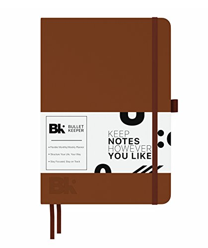 Best Undated Notebook Planner – Daily, Weekly, Monthly Planner. Brown Hardcover Leather Bullet Journal. Non-Dated 12 Month Flexible Agenda. 2018-2019 Bullet Keeper by Bullet Keeper