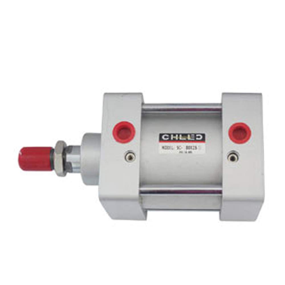 25mm Woljay Pneumatic Air Cylinder SC 80 X 25 PT 3//8 Screwed Piston Rod Dual Action Bore 80mm Stroke