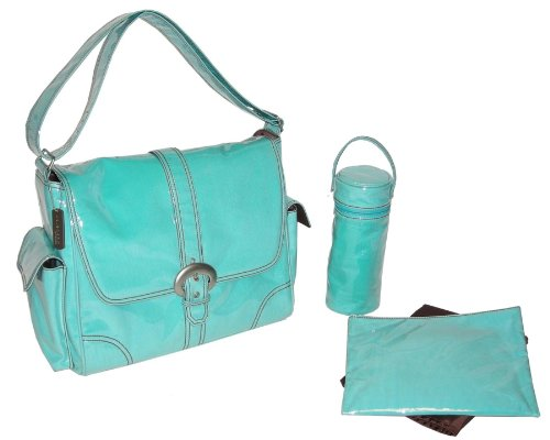 Kalencom Laminated Buckle Bag, Aqua Corduroy