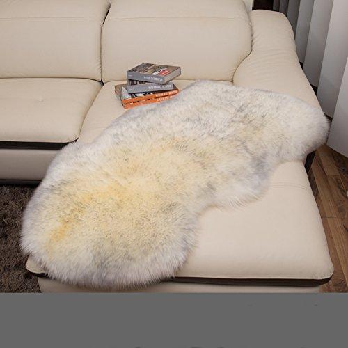 lililili Faux fur sheepskin rug,Kids carpet home décor accent for a kid's room,Childrens bedroom, Nursery, Living room or bath.Bay window blanket,Sofa cover-A 70x100cm(28x39inch) by lililili