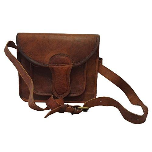 Mad Over Shopping, Borsa delle donne in tracolla di cuoio genuino del sacchetto del crossbody del Vintage