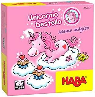 Haba- Unicornio Destello – Memo mágico-ESP Juego de Mesa (Habermass H305513): Amazon.es: Juguetes y juegos