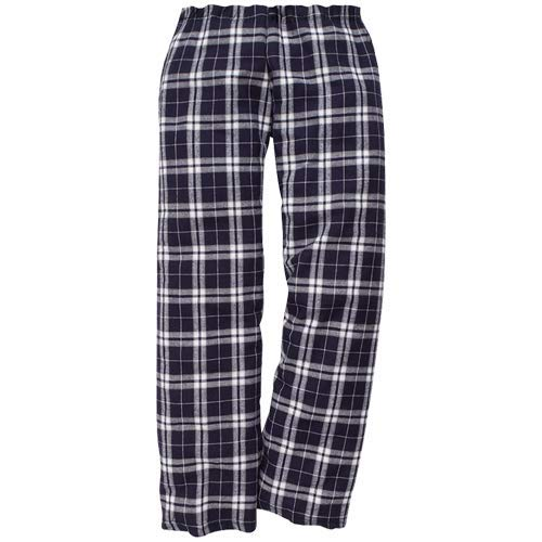 Flannel Boxercraft - Boxercraft Flannel Pant - 100% Cotton - Youth Sizes, Navy/Silver-Youth Large
