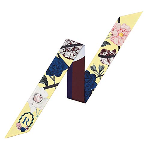Uainhrt Letters Design Bag Handbag Handle Ribbon Scarf Hair Head Band Neck Scarf Fashion Gifts (R)