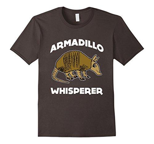 Men's CUTE ARMADILLO WHISPERER T-SHIRT Funny Animal Pet Farm Gift 3XL Asphalt (Armadillo Costume)