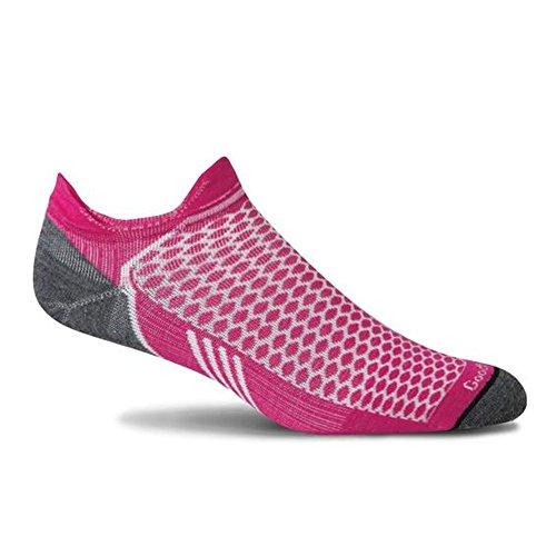 Sockwell Womens Incline Inspire Athletic Ultra Light Micro Socks  Medium Large  Azalea