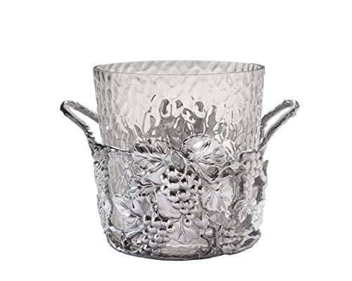 "Arthur Court Designs Aluminum and Glass Grape Champagne Ice Bucket - Diameter 10.5"" Height: 9"""