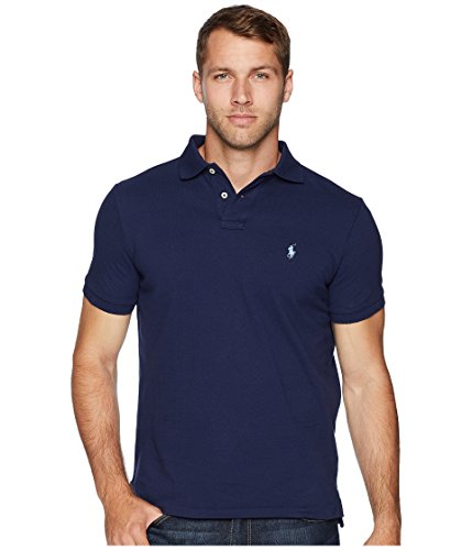 Cotton Mesh Custom Slim Fit Polo (Newport Navy, XL)