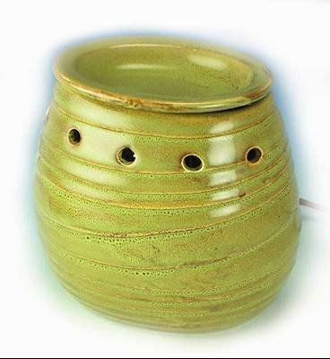 (La-Tee-Da GRASS TEXTURED OVAL Potion or Wax Melt Warmer by)