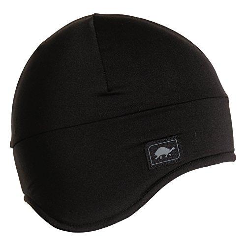 Turtle Fur Kids Comfort Shell Frost Liner Lightweight Earflap Helmet Liner Black (Turtle Fur Lightweight Hat)