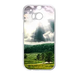 Personalized Creative Cell Phone Case For HTC M8,sunshine sky and green forest
