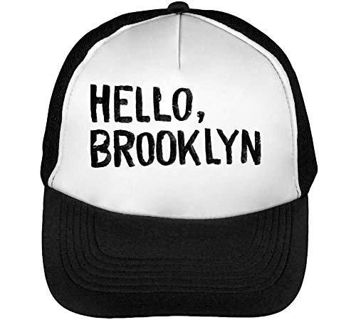 Brooklyn Hombre Beisbol Snapback Negro Blanco Gorras 66wBgqr