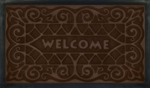 Park Avenue Collection Welcome Mat 18x30 Wrought Iron - Coffee