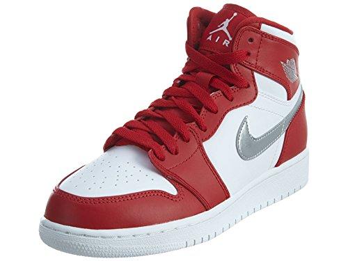f0b6107887ae56 Jordan Big Kids Air Jordan 1 Retro High (GS) (gym red   metallic  silver-white) Size 4.5 US - Buy Online in UAE.
