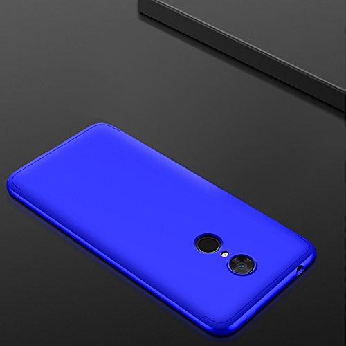 Xiaomi Redmi 5 Caso, Vandot de 360 Grados Alrededor de Todo el Cuerpo Completo de Protección Ultra Thin Slim Fit Cubierta de la Caja de Mate PC Absorción de impactos Shockproof para Xiaomi Redmi 5 / X PC QBHD-3