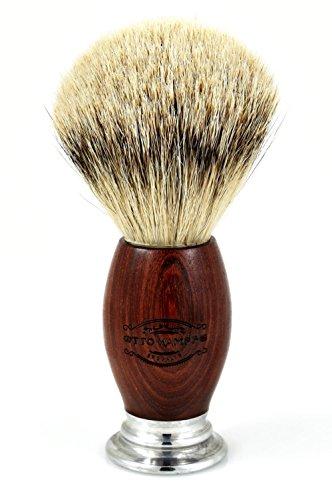 Otto Kampfe Silvertip Badger Shaving Brush with Mahogany Wood (Silvertip Badger Shaving Set)