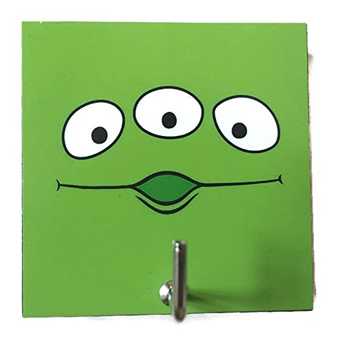 Quick Video Game Costume Ideas (Agility Bathroom Wall Hanger Hat Bag Key Adhesive Wood Hook Vintage Green Alien Toy Story's Photo)