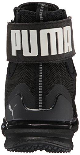 Puma Mens Ignite Sneaker Scarponcino In Pelle Nero Puma Nero-puma