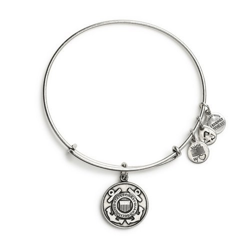 (Alex and Ani U.S. Coast Guard Charm Bangle in Rafaelian Silver, AS12USCGRS)