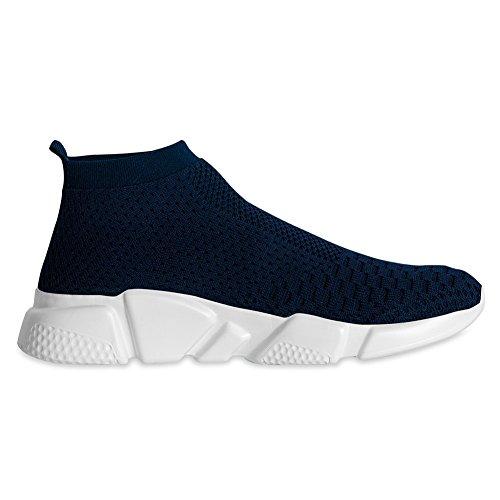 YALOX Männer leichte atmungsaktive Laufschuhe athletische Turnschuhe Mode lässig zu Fuß Slip auf Schuhe Marine