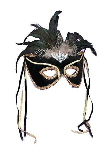 Venetian Couple Mask Black Fm - Halloween Mask by BESTPR1CE