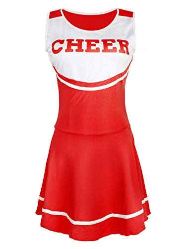 (Hamour Womens' Cheerleader Costume Mini Skirt Fancy Dress Uniform, Medium)