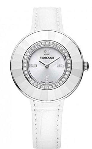 - Ladies' Swarovski Crystal Octea Dressy White Leather Watch 5080504