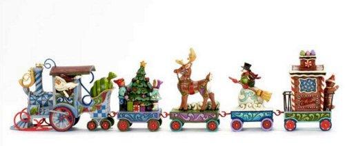2013 Jim Shore HWC *North Star Express* 5 Piece Mini Holiday Express Train Set