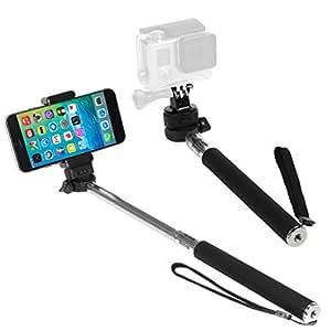 ikross monopod selfie handheld extendable stick pole with mount holder and tripod. Black Bedroom Furniture Sets. Home Design Ideas