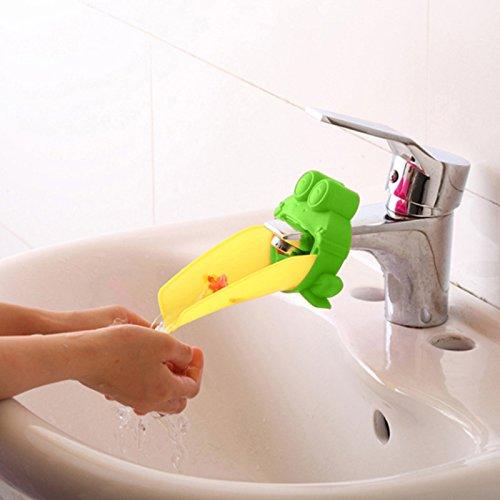 Rosa SANDIN S/ü/ß Wasserhahn Verl/ängerung Extender f/ür Kinder Baby H/ände waschen Badezimmer-Cartoon Delphin Design