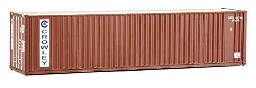 Walthers Ho Scale Container - Walthers HO Scale 40' Hi-Cube Corrugated Shipping Container Flat Roof Crowley