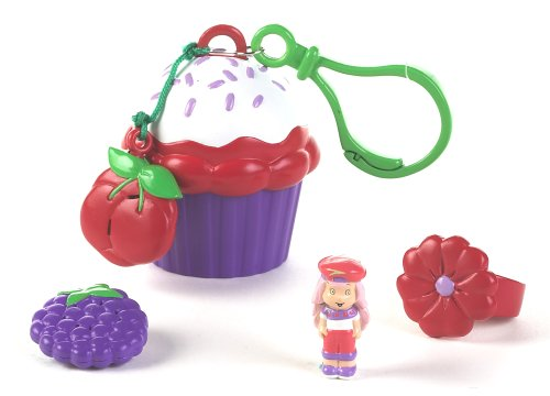 Strawberry Shortcake Tiny Treats: Crepes Suzette with Cupcake - Shortcake Strawberry Keychains