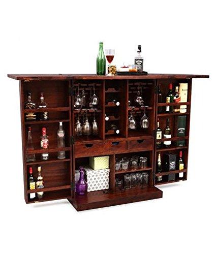 Ringabell Altavista Diamond Bar Cabinet (Teak Finish): Amazon.in ...