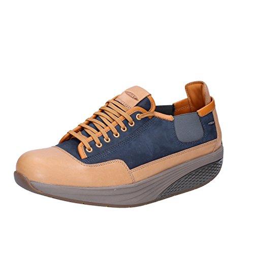 MBT Sneakers Uomo 42 EU Blu Marrone nabuk Pelle