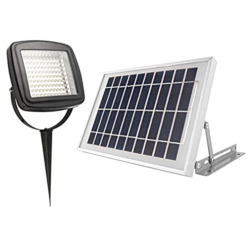 microsolar natural white not bluish 400 lumen 5w angle adjustable solar panel lithium battery solar flood light wall or ground mounted 2 axes