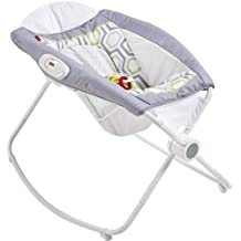 Fisher-Price Newborn Rock 'n juega Sleeper, Blanco/Gris