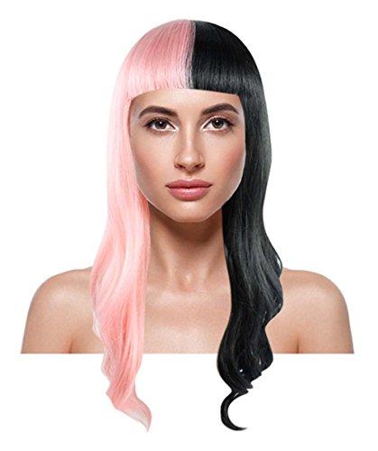 American Singer Short Wavy Wig, Pink/Black Adult HW-1102