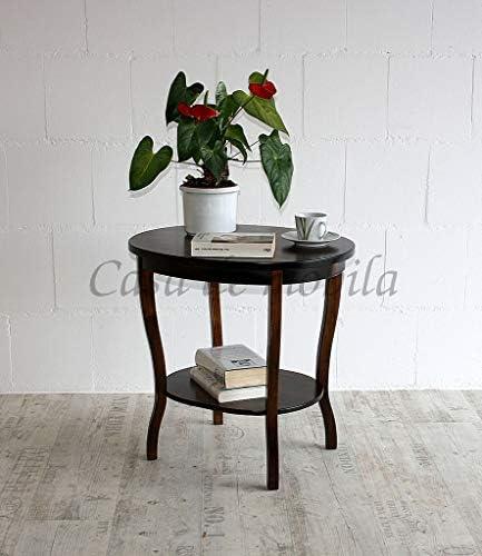 Massivholz Tisch Beistelltisch Teetisch oval 57 Holz massiv kolonial