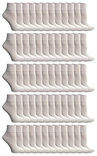 (Yacht & Smith Kids Ankle Wholesale Bulk Pack Athletic Sports Socks, by SOCKS'NBULK (Kids 2-4 (Shoe Size 4-6), 240 Pairs White))