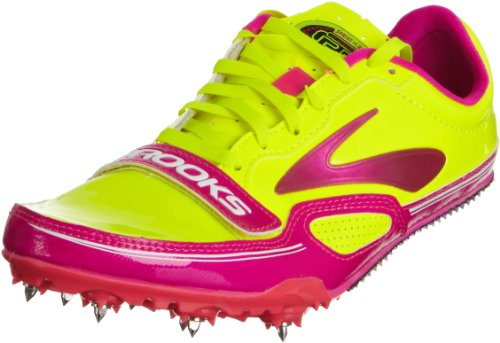Brooks Womens Pr Sprint 11.38 Track Spikes Pink Glow Nightlife Antracite