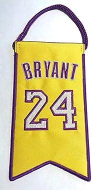 Kobe Bryant Los Angeles Lakers Jersey Retirement Mini Banner Pennant #24