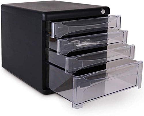 フラットファイルキャビネット食器棚モバイル4引き出しロックA4ファイルのデータストレージストレージボックス27X36X26cmホームオフィス用家具 ファイリングキャビネット