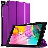 Samsung Galaxy Tab A 8.0 2019 Ultra Lightweight Protective Slim Folio Leather Smart Sleep Awake Cover Case Compatible with Samsung Galaxy Tab A 8.0 2019 SM-T290 SM-T295 2019 Release Tablet (Purple)
