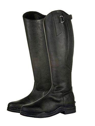 Hkm Land Zwart Leer Lange Manege Werpen Waterdicht Laarzen (41)