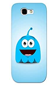 lintao diy New Cute Funny Blue Ghost Case Cover/ Galaxy Note 2 Case Cover For Lovers
