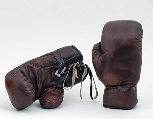 Nuevo Vintage A/ños 30 Estilo Cuero Aut/éntico Tama/ño Real Cosida a Mano Guantes de Boxeo